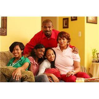 Family portrait - black family