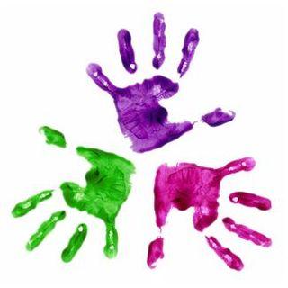 Childs handprints