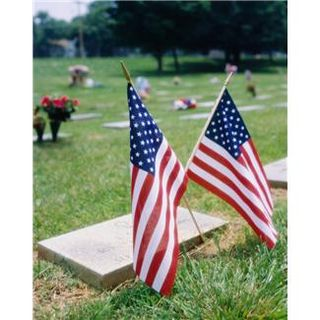 American flag at grave