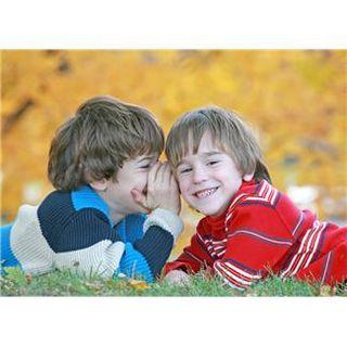 Boys sharing secrets
