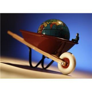 Wheelbarrel and globe