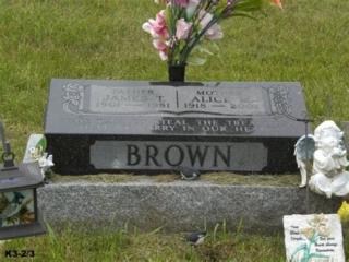 James B Headstone