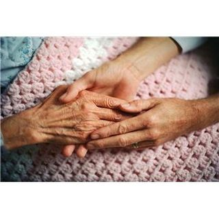 Holding hands for elderly
