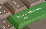 Estate Planning Button on keyboard
