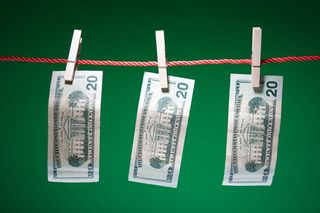 MOney from clothes line