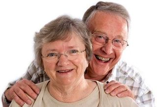 Couple - older with smiles