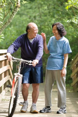 Elderly active - bike