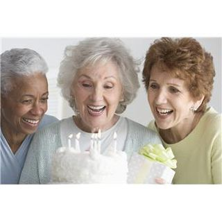 Older ladies celebrating