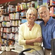 Couple in book store